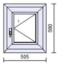 Okno S200AD biały i orzech